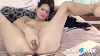Mika Cox on Flirt4Free - Sexy Cougar Babe w Big Tits Makes Her Pussy Squirt