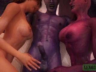 Monster sex 3d demonic hell fucks redhead beauty...