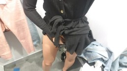CUMMING IN A CHANGING ROOM!