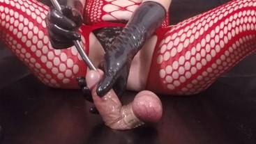 Femdom CBT Sounding Bound Gloryhole Cock  Post Orgasm Torture