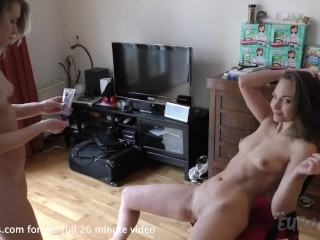 mira and linda strip poker and first time lesbian fingering in amsterdam