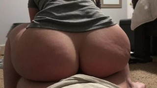Big ass gets fucked reverse cowgirl