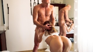 Hottest Teen Fitness Couple Passionately Fuck near the Mirror 4K