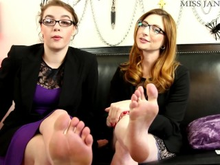 Perfomance evaluation foot humiliation with olivia rose...