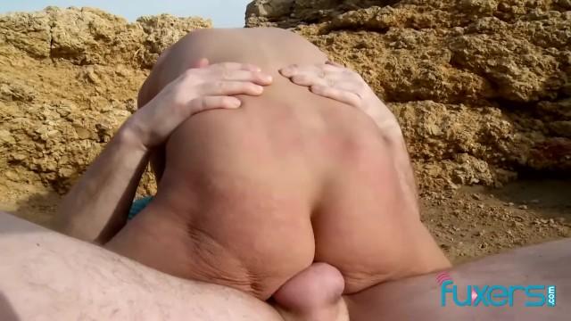 Blonde MILF outdoor sex 19