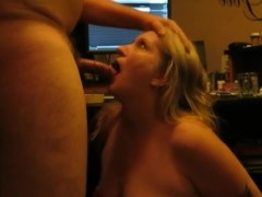 Blond Milf getting a brutal Face fuck from her best friends brother....