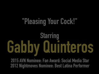 Mexican Milf Gabby Quinteros Straddles & Blows Your Cock!