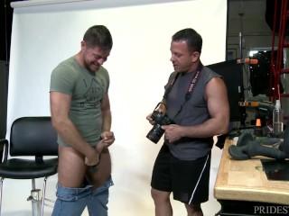 Menover30 gay daddies cock ring during photoshoot...