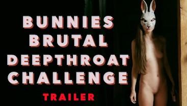 Bunnies brutal deepthroat challenge (TEASER)