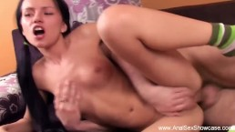 Little Boobs Brunette Gets Analized