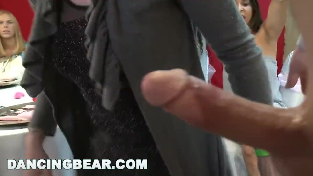 DANCING BEAR - A Wild CFNM Dick Sucking Orgy For The Bride To Be 20