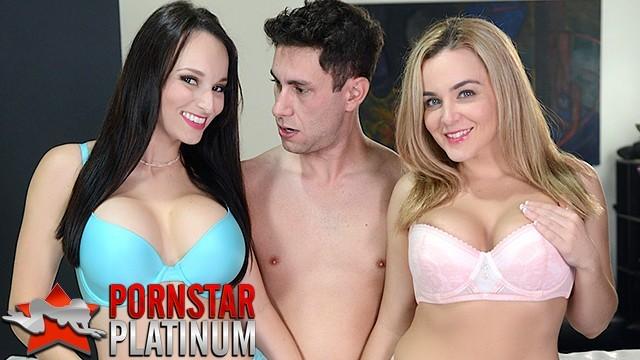 Threesome with big tit pornstars Lexi Luna and Natasha Nice