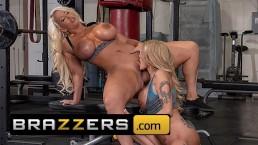 Brazzers - Gym milfs Alura Jenson & Joslyn James Get competitive