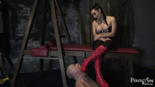Heel Sucking Slut - Mistress Chloe Lovette and Her Boot Bitch