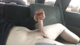 Stroking my cock in the car until i explode