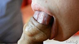 Sensitive licking and sucking foreskin -Cumshot inside foreskin Day 5 M&M