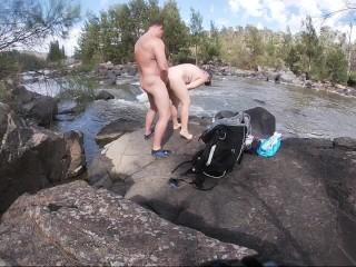 Nude hiking...