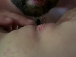 Quick pussy licking playtime