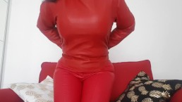 Red leather top from Fetish-Design review