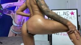 Spit Play Messy Deepthroat Blowjob TItty Fuck Oil Show Webcam - Alexis Zara