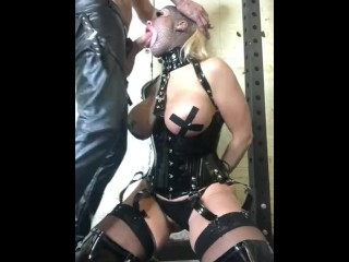 Rebecca more Hard core fetish deep gag submissive