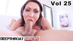 Deepthroat Sirens Compilation 5 Deep Throat & Cum Swallow Blowjobs VOL 25