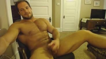Brock Jacobs Super Sexy Hot Body Stokes His Big Cock For A Good Cum
