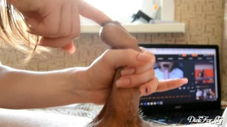 Playful tongue licking my foreskin oral Creampie and swallows cum day 7 M&M