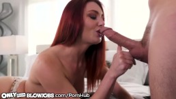 OnlyTeenBlowjobs Redhead Cam Slut Lacy Lennon Throats for Audience