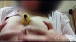 hot indian teen playing with banana big boobs hindi audio