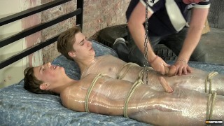 Twinks Zac and Casper getting sucked and tortured by daddy Sebastian