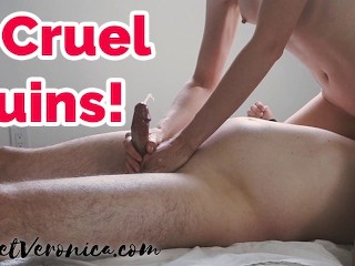 Cock Teasing & Ruining His Orgasm Repeatedly Femdom Compilation | Veronica