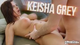 BUSTY BEAUTY KEISHA GREY USES HER BIG NATURAL TITS TO MAKE HIM EXPLODE