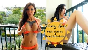 Balcony Babe - Public Flashing & Mutual Masturbation JOI Outdoors Hot MILF