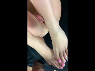 Cumming All Over My Feet