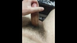 Massive Cumshot Before Going to Bed