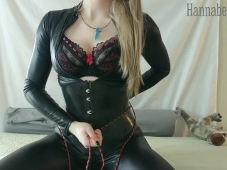 Latex corset toys get me off...