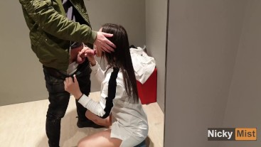 Fuck my stepsister in fitting room of store