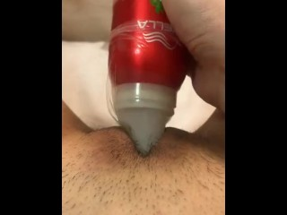 Pussy Clit Rub with Bottle Cap and Condom Massage ASMR