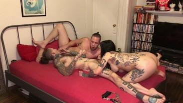 Wolf Hudson in Jessie Lee's FIRST Bisexual MMF Threesome with Ruckus (FULL SCENE)