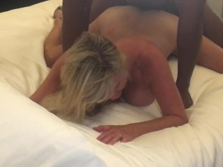 Hotwife Girlfriend getting bent over by a couple of BBCs