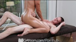 GayRoom Full Service Drains Big Dick