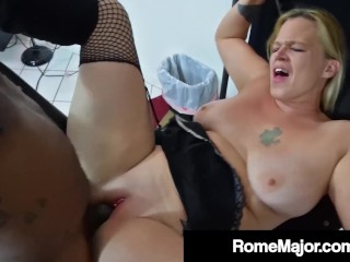 Big Black Cock Rome Major Bangs Blonde Babe Pinky 702!