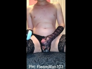 Thick Femboy Gapes His Hole With A Dragon Egg!