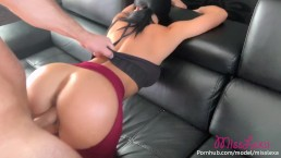 HE RIPPED MY YOGA PANTS BEFORE FUCKING ME AND CUMMING ALL OVER MY BIG TITS