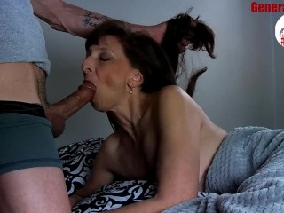 Nice Milf Blowjob Big Load Show Cum Swallow