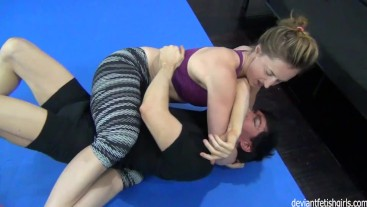 bjj girl dominates guy - strong girls rule