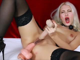 Slut with nipples clamps masturbate fucking helena moeller...