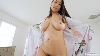 JAY'S POV - Busty Asian Step Mom Sharon Lee Loves Family Creampies