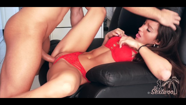 Sperm banks in ga Pretty girl in red gets fucked and swallows cum -amateur sextwoo